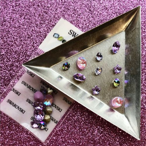 Fancy Stones 10pc Mix - Violet